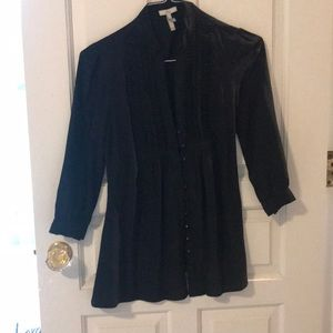 Joie silk black top with buttons